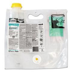 Crew Restroom Non-Acid Disinfectant Cleaner, Fresh, 60mL Smart Mix Pack, 2/Crtn