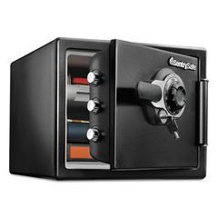 Fire-Safe w/Tubular Key & Combination Access, 0.8 ft3,16.3 x 19.3 x 13.7, Black