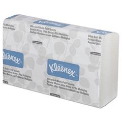 Kleenex Ultra Soft Multi-Fold Towels, 2-Ply, 9 1/4 x 9 1/2, 150/Pack, 16 Pack/Carton