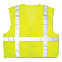 Luminator Safety Vest, Lime Green w/Stripe, 2X-Large