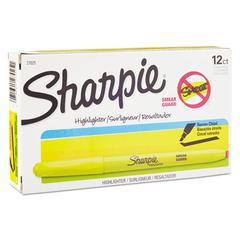 Sharpie Accent Pocket Style Highlighter, Chisel Tip, Fluorescent Yellow, Dozen