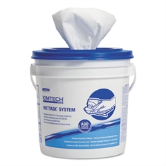 Kimtech* Wipers, Disinfect/Sanitize, 12 x 12 1/2, White, 90/Roll, 6/Carton