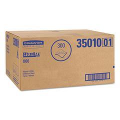 WypAll* X60 Towels, Flat Sheet, 22 1/2 x 39, White, 100/Box, 3 Boxes/Carton