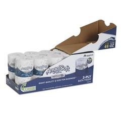 Double-Roll Bathroom Tissue, 2-Ply, 400 Sheets/Roll, White, 20/Carton