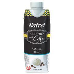 Natrel Indulgent Milk Coffee Drinks, Vanilla Bean Coffee, 11oz Prisma Bottle,12/Cartn