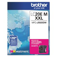 Brother LC20EM INKvestment Super High-Yield Ink, Magenta
