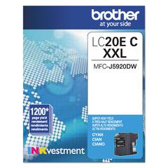 Brother LC20EC INKvestment Super High-Yield Ink, Cyan