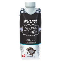Natrel Indulgent Milk Coffee Drinks, Mocha Coffee, 11oz Prisma Bottle,12/Cartn