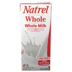 Milk, Whole Milk, 32 oz Tetra Pack, 12/Carton