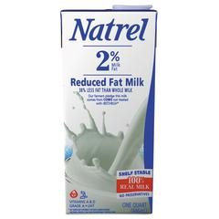 Natrel Milk, 2% Reduced Fat Milk, 32 oz Tetra Pack, 12/Carton