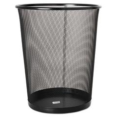 Rolodex 4 1/2 Gallon Steel Black Round Mesh Trash Can