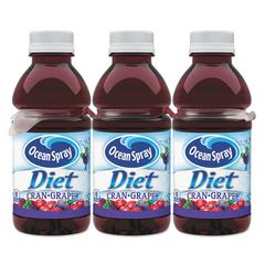 Cranberry Juice Drink, Cranberry Grape, 10 oz Bottle, 6/Pack