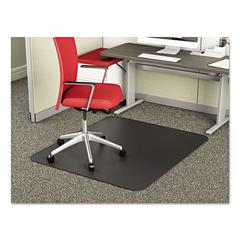 SuperMat Frequent Use Chair Mat, Medium Pile Carpet, Straight, 36 x 48, Black