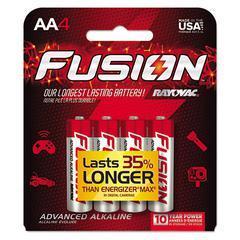 Fusion Advanced Alkaline Batteries, AA, 4/Pack