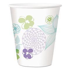 Longwood Gardens Paper Cold Cups, 12 oz, Floral, 300/Carton