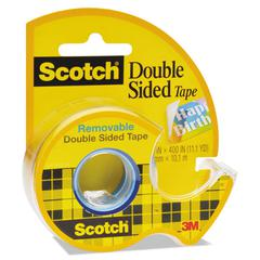 "Scotch 667 Double-Sided Removable Tape and Dispenser, 3/4"" x 400"", Clear"