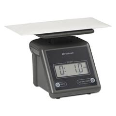 Electronic Postal Scale, 7 lb Capacity, 5 1/2 x 5 1/5 Platform, Gray
