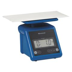 Brecknell Electronic Postal Scale, 7 lb Capacity, 5 1/2 x 5 1/5 Platform, Blue