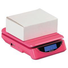 PS25 25lb Electronic Postal Shipping Scale, 8 x 6 Platform, Pink