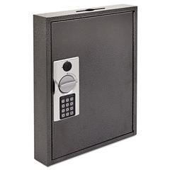 FireKing Hercules Key Cabinets E-Lock, 60-Key, Steel, Silver Vein