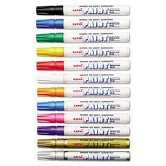 Sanford uni-Paint uni-Paint Marker, Medium Point, Assorted, 12/Set