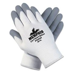 Ultra Tech Foam Seamless Nylon Knit Gloves, X-Large, White/Gray, Pair