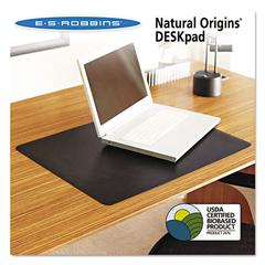 Natural Origins Desk Pad, 19 x 12, Matte, Black