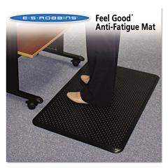 ES Robbins Feel Good Anti-Fatigue Floor Mat, 24 x 36, PVC, Black