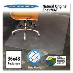 ES Robbins Natural Origins Chair Mat For Hard Floors, 36 x 48, Clear