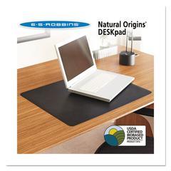 ES Robbins Natural Origins Desk Pad, 38 x 24, Matte, Black