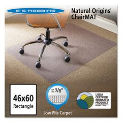 Natural Origins Chair Mat for Carpet, 46 x 60, Clear
