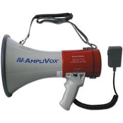 AmpliVox MityMeg Piezo Dynamic Megaphone, 25W w/Coiled Microphone