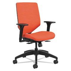 Solve Series Upholstered Back Task Chair, Bittersweet