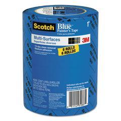 "Scotch Painter's Tape, .94"" x 60yds, 3"" Core, Blue, 6/Pack"