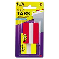 File Tabs, 2 x 1 1/2, Solid, Red/Yellow, 44/Pack