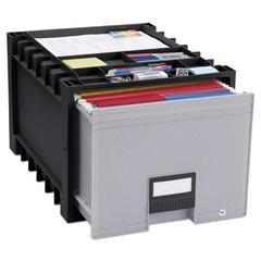 "Archive Drawer for Letter Files Storage Box, 18"" Depth, Black/Gray"