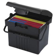 Portable Storage Box, Letter Size, 14w x 11-1/4d x 14-1/2h, Black
