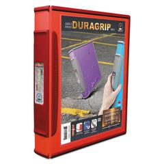 "Storex DuraGrip Binders, 1"" Capacity, Red"