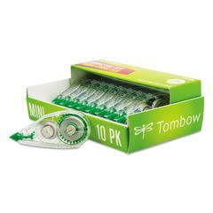 "Tombow MONO Mini Correction Tape, 1/6"" x 315"", Non-Refillable, 10/Pack"