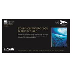 "Epson Exhibition Textured Watercolor Paper Roll, 17"" x 50 ft, White"