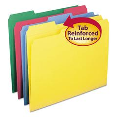 File Folders, 1/3 Cut, Reinforced Top Tabs, Letter, Assorted, 12/Pack