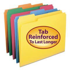 Smead File Folders, 1/3 Cut, Reinforced Top Tab, Letter, Assorted, 100/Box