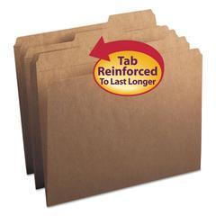 Kraft File Folders, 1/3 Cut Right, Reinforced Top Tab, Letter, Kraft, 50/Box