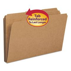 Kraft File Folders, 1/3 Cut, Reinforced Top Tab, Legal, Kraft, 100/Box