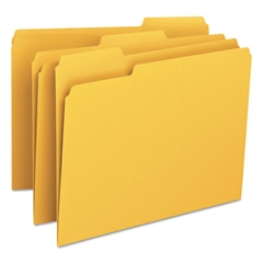 Smead File Folders, 1/3 Cut Top Tab, Letter, Goldenrod, 100/Box
