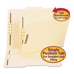 Folder, Two Fasteners, 2/5 Cut Right Center, Top Tab, Letter, Manila, 50/Box