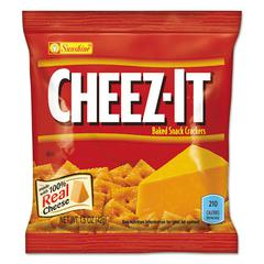 Cheez-it Crackers, 1.5 oz Bag, Reduced Fat, 60/Carton