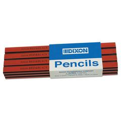 Oriole Woodcase Flat Carpenter's Pencil, Soft, Red, Dozen