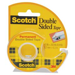 "665 Double-Sided Permanent Tape in Handheld Dispenser, 1/2"" x 250"", Clear"