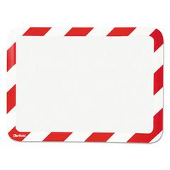 Tarifold High Visibility Safety Frame Display Pocket-Magnet Back, 10 1/4 x 14 1/2, Red/WH